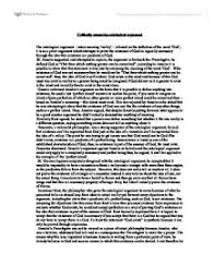 the ontological argument critique a level religious studies  critically assess the ontological argument