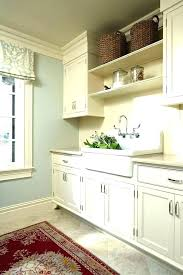 beadboard walls laundry room sinks traditional with baskets blue ceiling in basement bathroom beadboard walls
