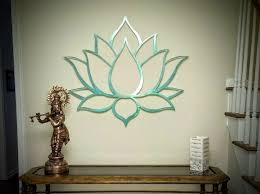 lotus flower metal wall art sculpture brushed metal w serenity teal spiritual wall on metal lotus flower wall art with 108 best metal wall art by arte metal images on pinterest art
