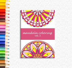 Small Picture Mandala coloring mandala color book adult coloring sheet