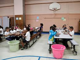 elementary school cafeteria. In This Tuesday, June 7, 2016 Photo, Students Eat Lunch Inside The School\u0027s Gym At Little Fort Elementary School Waukegan, Ill. (AP Photo/Kamil Cafeteria R