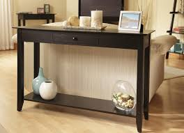 narrow black console table. Furniture, Black Console Table With Drawers Smoke Mirror One Drawer Gloss Narrow L