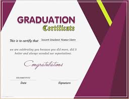 Graduation Certificate Template Word Simple Pin By Alizbath Adam On Certificates Pinterest Certificate And