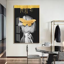 modern portraits abstract fashion wall