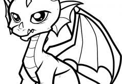 Cute Coloring Pages Kids Simple Book Animal Outlines Printable For