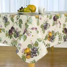vinyl tablecloth with felt backing fresco fruit flannel backed vinyl tablecloth oval 70 round vinyl flannel