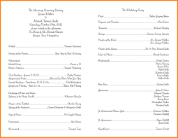 Catholic Wedding Ceremony Program Templates Catholic Wedding Order Of Service Template Catholic Wedding Ceremony