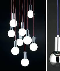 hanging led lights for kitchen led pendant light blown clear glass lamp with red cable hanging