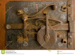 old door lock stock image image of engineering instrument 3409073
