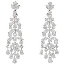 classic diamond gold chandelier earrings