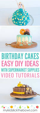 Easy Diy Birthday Cake Ideas For Children Video Tutorials