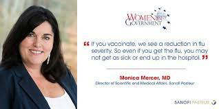 """Sanofi US on Twitter: """"About 1 in 5 Americans get the flu every year.  @sanofipasteur's Dr. Monica Mercer shares why it's vital for everyone to  get a #fluvax on the @WomenInGovt podcast:"""