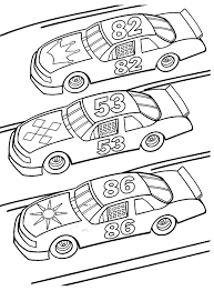 Small Picture Nascar Coloring Pages Colour Me Happy Pinterest NASCAR