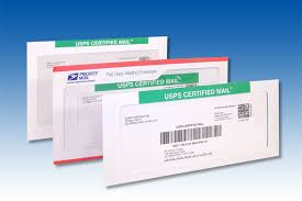 USPS Certified Mail Envelopes with Return Receipt Electronic