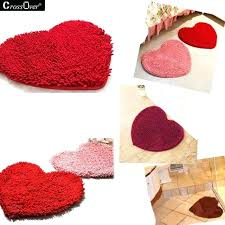 heart shaped rug new chenille rug creative heart shaped rug and carpet for living room bathroom