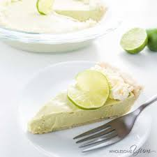 sugar free keto low carb key lime pie