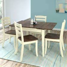 mission dining room set 5 piece extendable dark brown and cream solid wood dining set mission