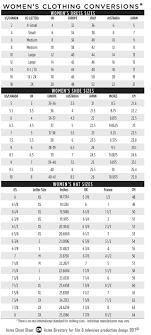 Women Clothes Size Conversion Chart Clothes Conversion Chart