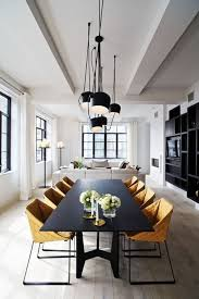 modern chandelier black. Black Modern Chandelier In The Dining Room A