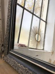 antique mirror with pendiment for