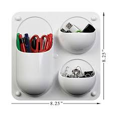 office supplies for cubicles. Wall-Mounted Organizer Caddy With 3 Sections For Storing Pens, Pencils, Sticky Notes And Other Supplies Offices, Homes, Classrooms Dorms \u2013 White Office Cubicles