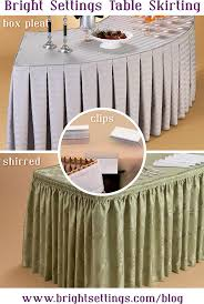 Box Pleat and Shirred Table Skirting
