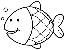 fish outline coloring page rainbow fish coloring page ocean fish coloring pages fish template cute coloring