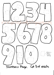 Number 10 Coloring Pages For Preschoolers Counting Numbers Within ...