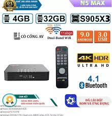 Nhập ELJAN11 giảm 10% tối đa 200k đơn từ 99k]Android TV Box Magicsee N5 Max  2020 Chip S905X3 RAM 4GB Bộ nhớ eMMC 32GB Dual wifi 2.4/5GHz Bluetooth 4.1