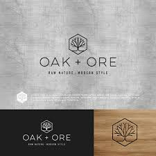 Design a modern logo for hand crafted wood and metal furniture
