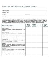 Performance Appraisal Form Template Answers Example Of Job Self ...
