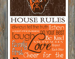 cleveland browns house rules art print on house rules wall art suppliers with house rules art etsy