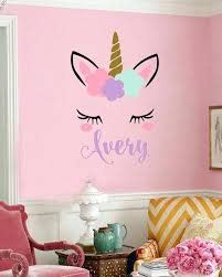 unicorn wall decal unicorn wall decal girls name personalized unicorn wall decal unicorn monogram wall decal unicorn wall decal