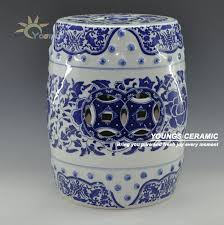 Chinese Blue and White Porcelain Lotus flower Pattern Garden Drum Stool  With Nail 16'' Made in Jingdezhen-in Stools & Ottomans from Furniture on ...