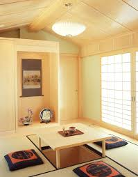 floor seating dining table. Asian Dining Room Table Floor Seating Tatami Hanging Lamps Painting Door Flowers