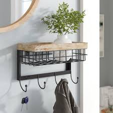 Wall Coat Rack With Mirror Cool Wall Coat Rack With Mirror Wayfair