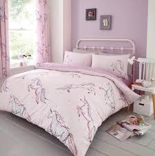 star unicorn kids duvet cover set reversible bedding single double king size new