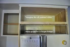 cabinet over fridge kitchen cabinet fridge end panel