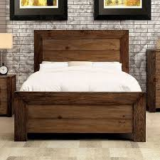 rustic platform bed. Aveiro Rustic Plank Style Platform Bed | Furniture Of America CM7627 Queen King Wood I
