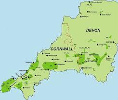 cornwall & devon mines northern mine research society Uk Map Devon cornwall & devon mines map of devon uk