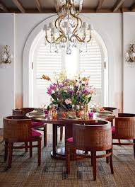 the ralph lauren home modern sands dining table and chairs under the marie chandelier