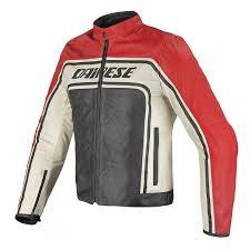 dainese tourage vintage leather jacket black red ice