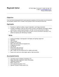 Photography Resume Cover Letter - Contegri.com