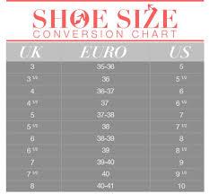 European Shoe Size Conversion Chart Shoes