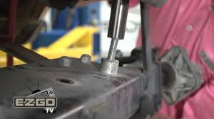 how to remove an e z go txt front and rear axle