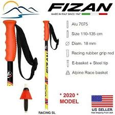 Ski Pole Size Chart Details About 2020 Fizan Downhill Aluminum Ski Poles Race Slalom Sl Made In Italy