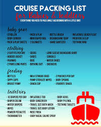 7 Day Cruise Packing List Cruise Packing List For Babies Toddlers Sew Woodsy