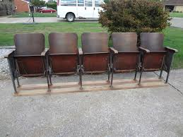 movie theater chairs for sale. vintage movie theatre wood seat cast iron chair auditorium stadium man cave | ebay theater chairs for sale