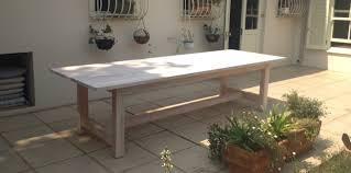 whitewash outdoor furniture. whitewashed saligna diningpatio table whitewash outdoor furniture e