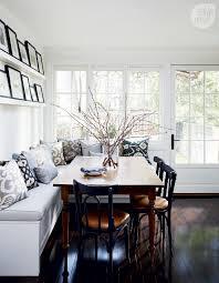 kitchen banquette furniture. Kitchen, Kitchen Banquette Bench Plain Matte White Cabinet Black Glass Microwave Grey Colored Smooth Stone Furniture N